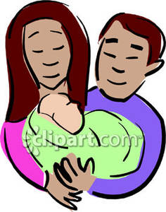 236x300 A Couple Holding A Newborn Baby Royalty Free Clipart Picture