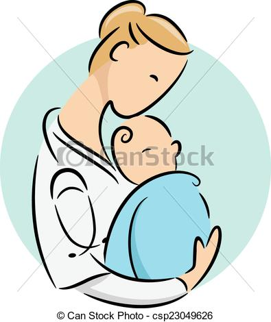 395x470 Newborn Doctor Icon. Icon Illustration Featuring A Doctor