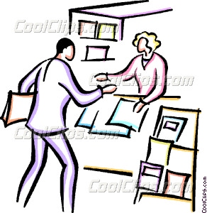 292x300 Man Buying Newspaper From Vector Clip Art