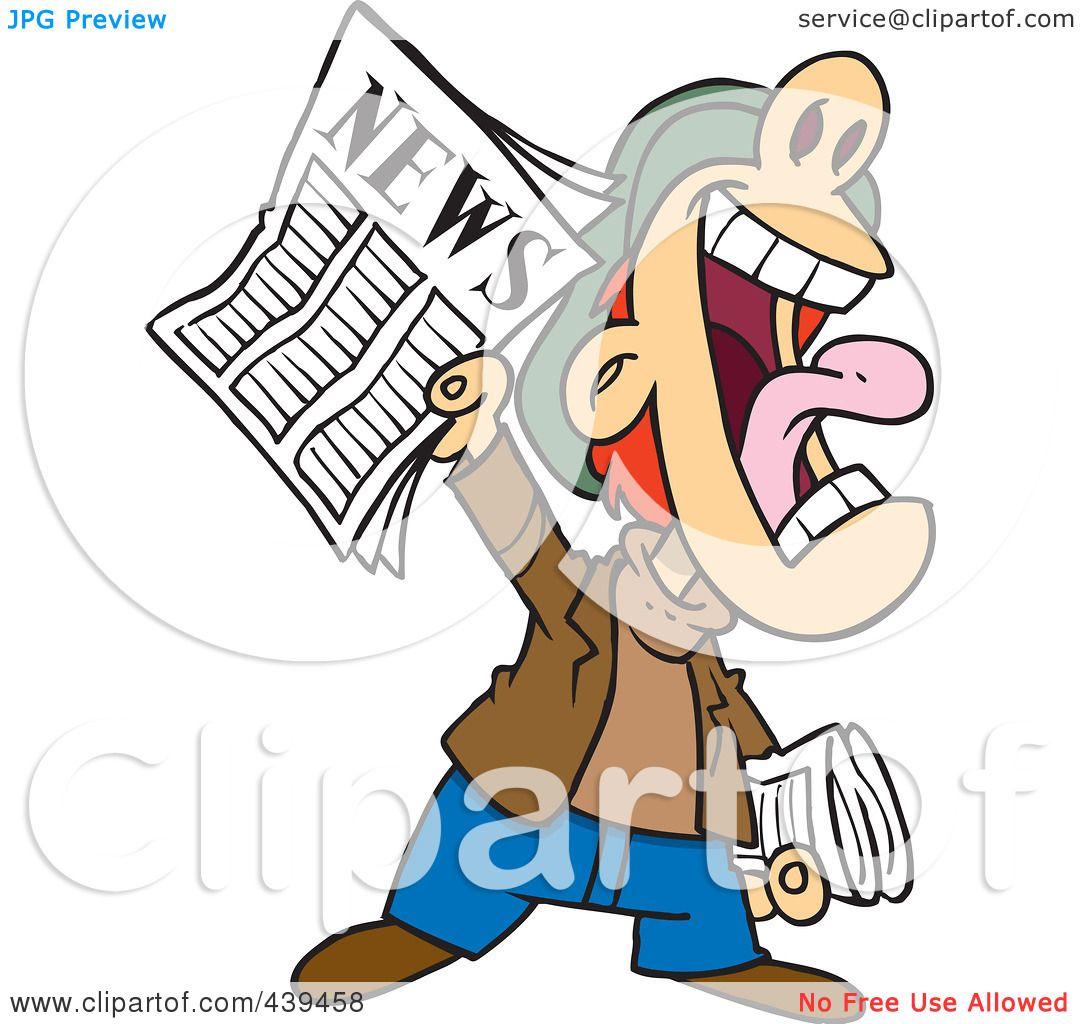 1080x1024 Royalty Free (Rf) Clip Art Illustration Of A Cartoon News Boy