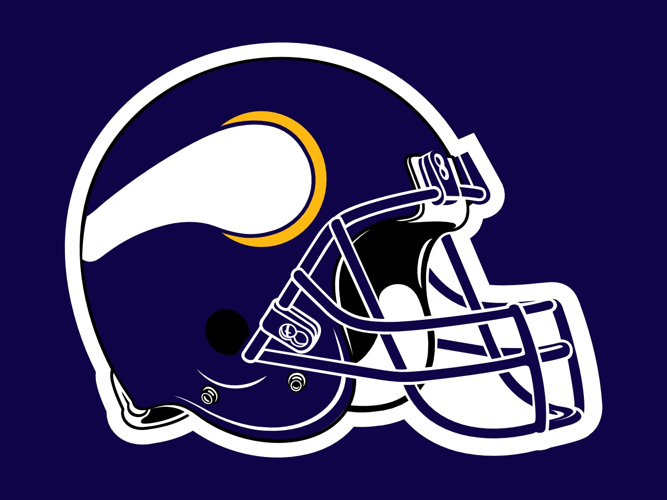 1365x1024 Minnesota Vikings Football Clipart