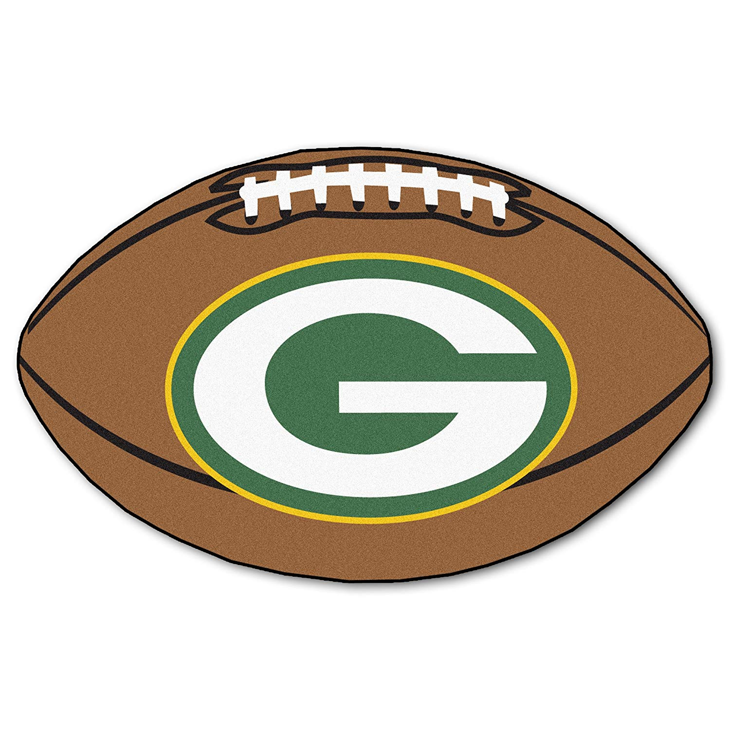 1500x1500 Fanmats Nfl Green Bay Packers Nylon Face Football Rug