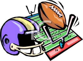 350x259 Football Game Program Clipart