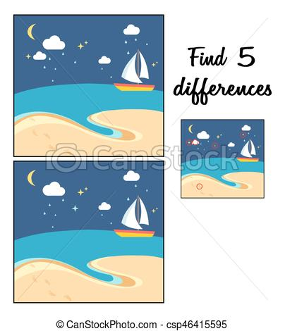 404x470 Beach Scene With The Sailing Boat
