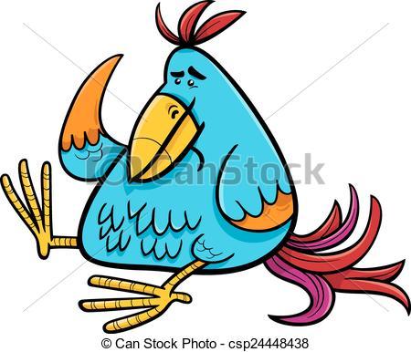 450x386 Exotic Fantasy Bird Cartoon Illustration. Cartoon Vectors