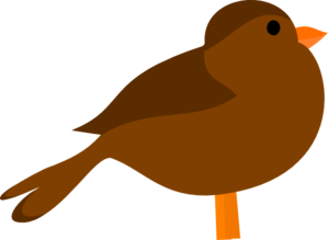 299x219 Brown Bird Clip Art