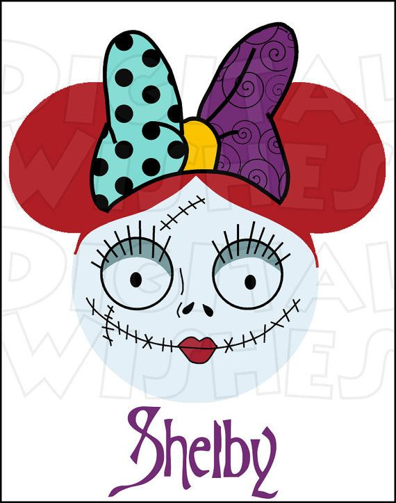570x723 Sally From Nightmare Before Christmas Mickey Minnie Mouse Head