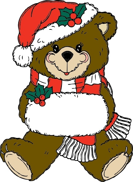 432x594 Christmas Bear Clip Art Free Vector In Open Office Drawing Svg