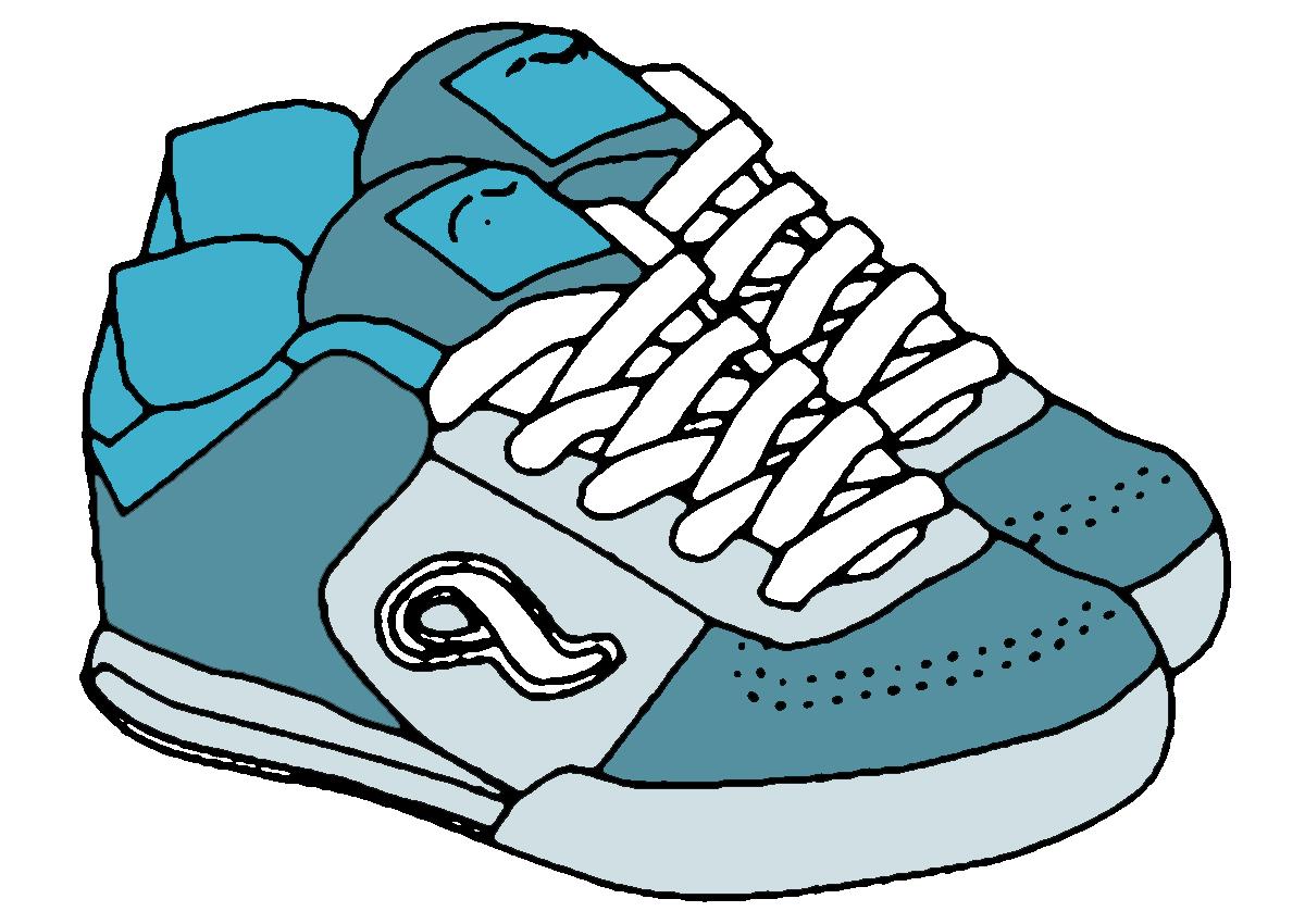 1200x850 Gym Shoes Clipart Blue Shoe 3589393