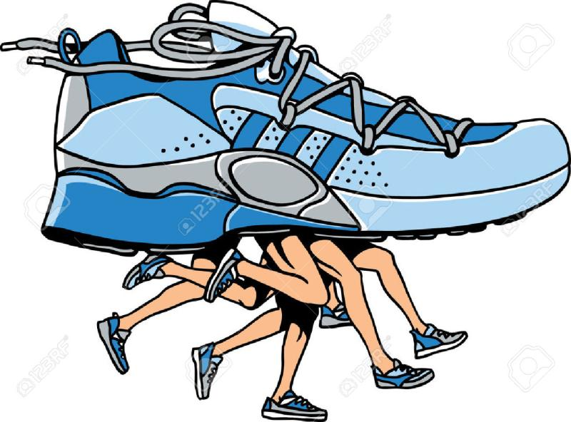 800x592 Running Shoes Clipart