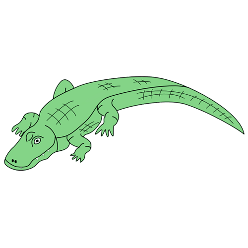 500x500 Crocodile Cliparts