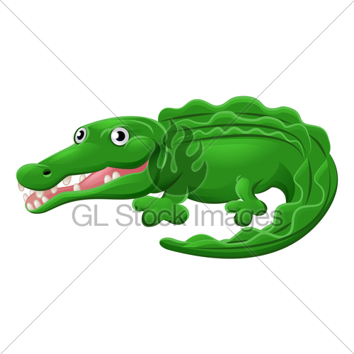 500x500 Crocodile Or Alligator Animal Cartoon Character Gl Stock Images