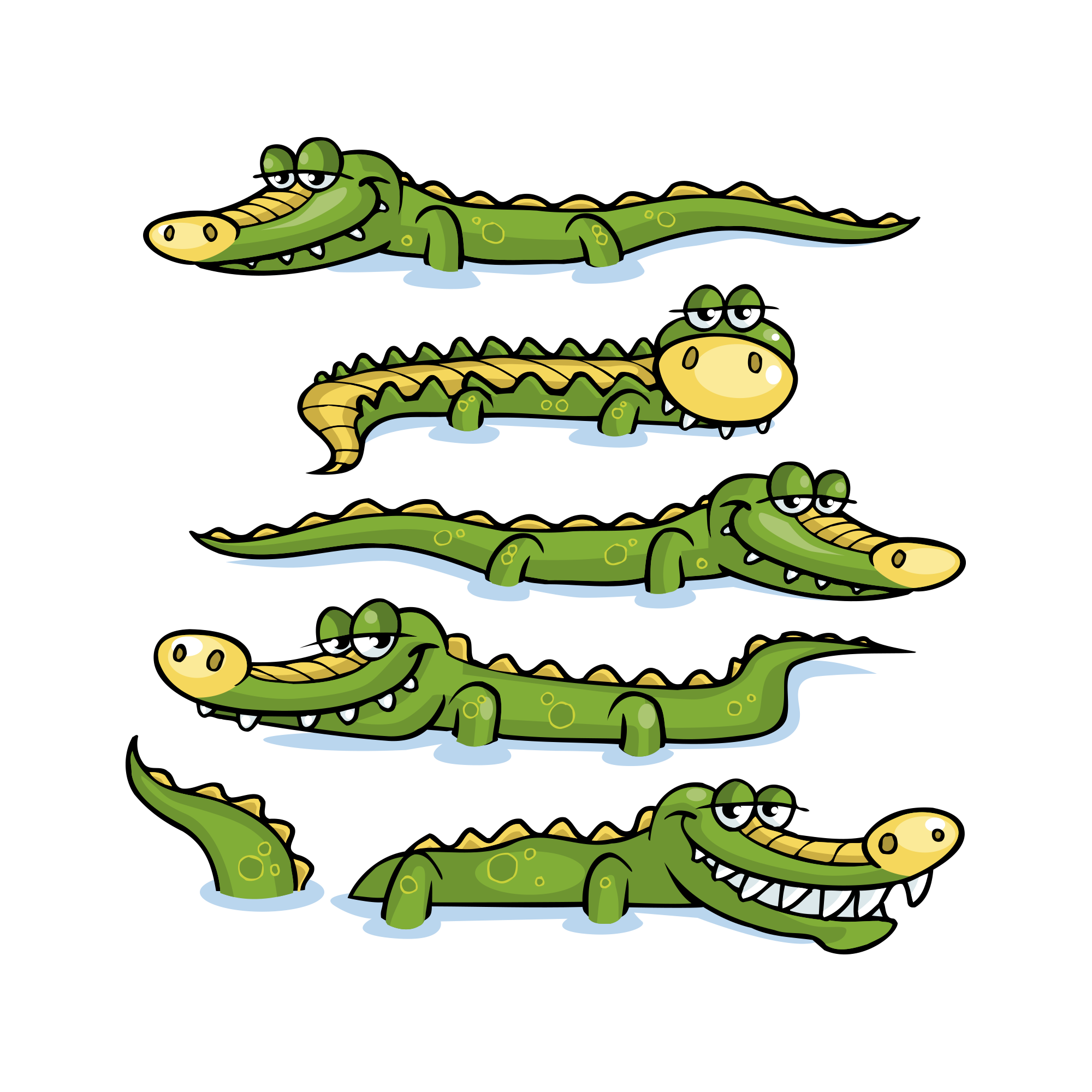 2000x2000 Nile Crocodile Alligator Prenasalis Clip Art