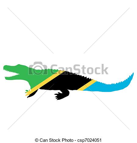 450x470 Nile Crocodile Tanzania Vector Clip Art