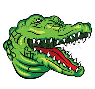 320x299 Strong Angry Alligator Mascot. Vector Clip Art Illustration. All