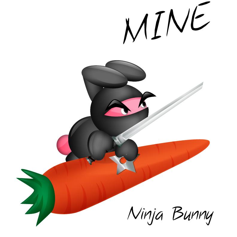 792x792 Ninja Clipart Bunny