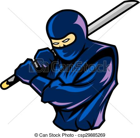 450x441 Steady Ninja. Ninja In Steady Position Clip Art Vector