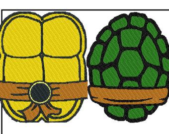 340x270 29 Images Of Teenage Mutant Ninja Turtle Shell Template