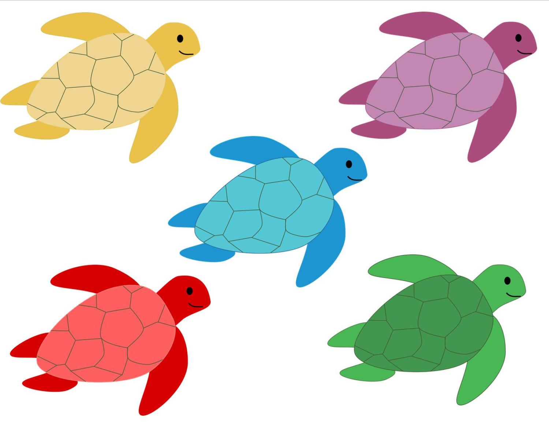 1500x1159 Birthday Turtle Clipart