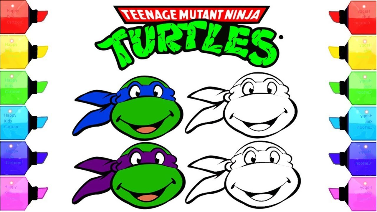 1280x720 Coloring For Baby Teenage Mutant Ninja Turtles Coloring For Kids