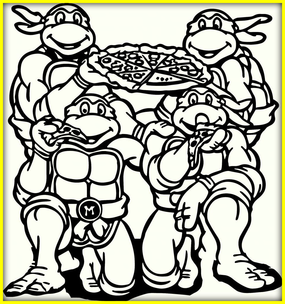 980x1044 Coloring Book And Pages ~ Ninja Turtles Coloring Pages Tmnt Online