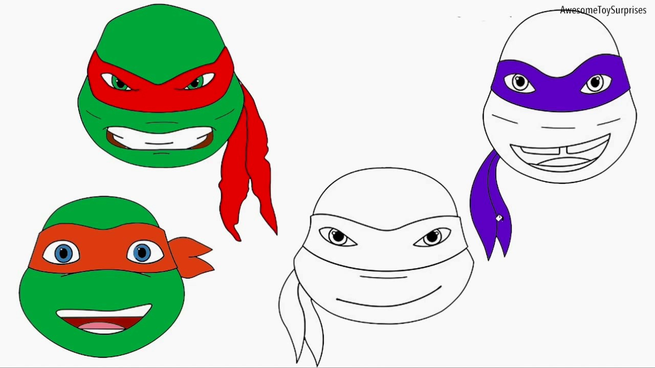 1280x720 Ninja Turtles Movie Coloring Pages Free Download