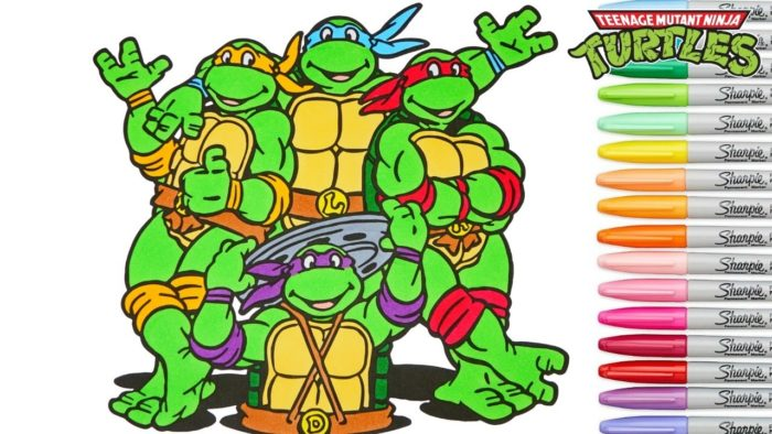 700x394 Tmnt Coloring Book Find Here More Than