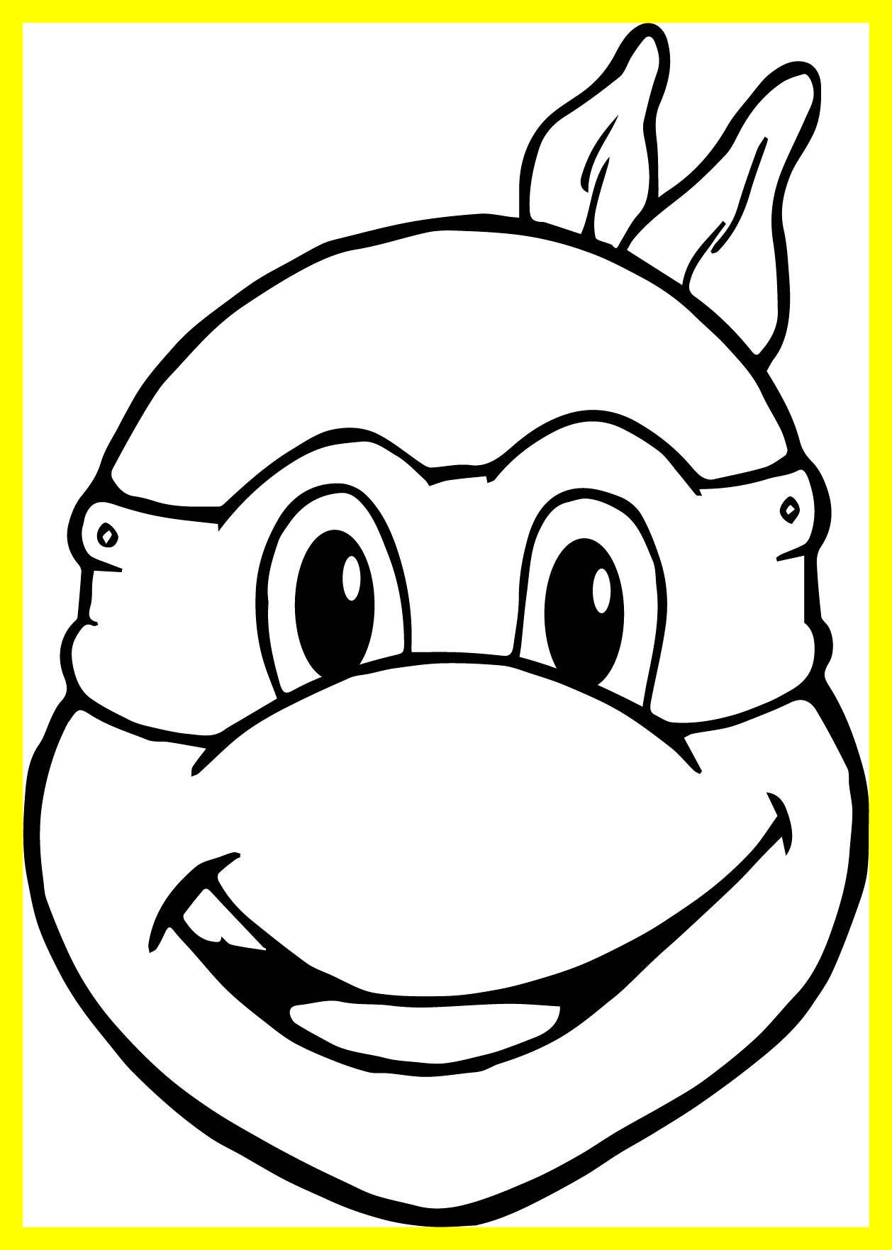 1258x1763 Awesome Ninja Turtles Head To Coloring Pages Wecoloringpage Pict