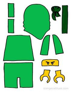 236x307 Lego Ninjago Printable Cutout For Toddler Gluestick Art The Green