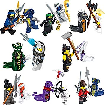 355x355 Bela Ninjago Minifigures Set Of 16 Mini Figures Brand New All