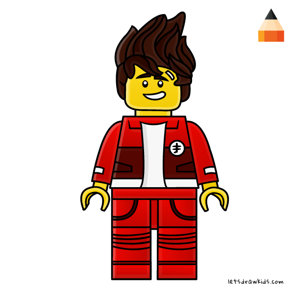 600x600 How To Draw Lego Ninja Kai