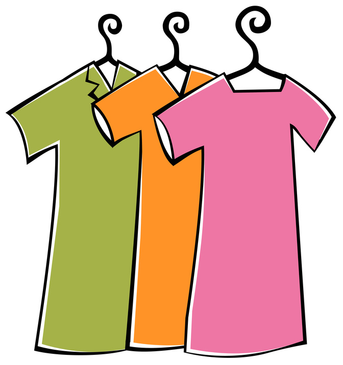 672x715 Clipart Hanging Clothes