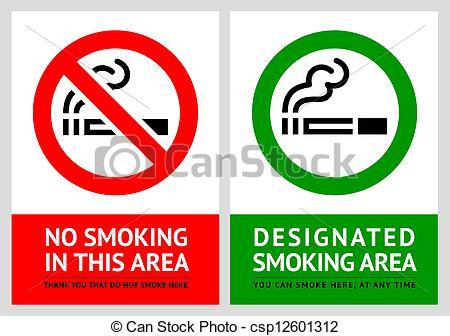 450x336 No Smoking And Smoking Area Labels