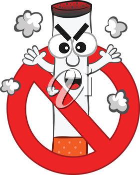 281x350 Clipart Illustration Of A No Smoking Symbol