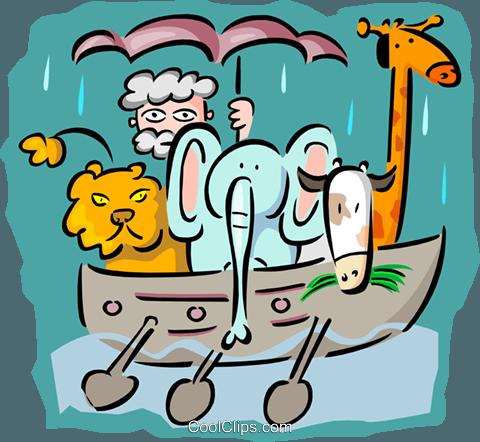 480x442 Noah's Ark Royalty Free Vector Clip Art Illustration Spec0204