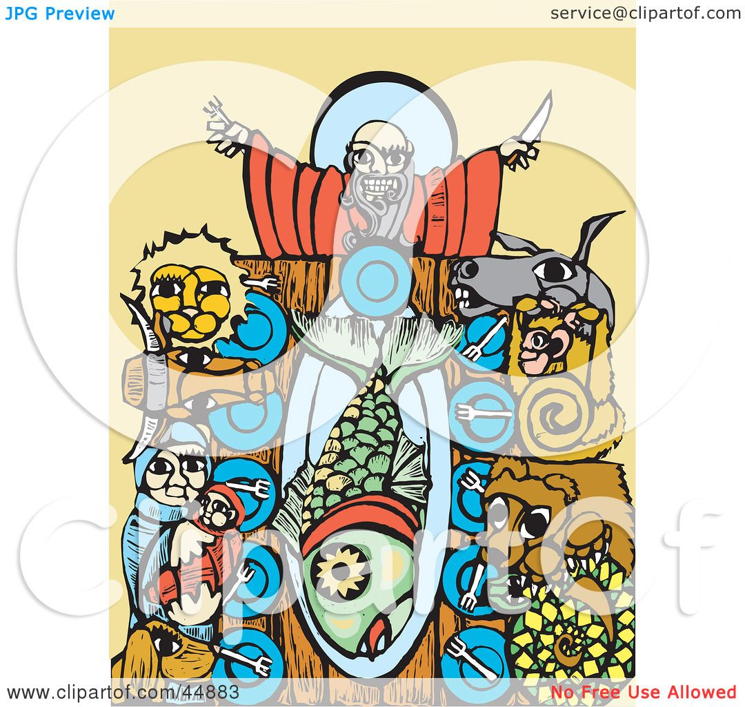 1080x1024 Royalty Free (Rf) Clipart Illustration Of Animals And Noah Seated