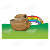 160x160 Abeka Clip Art Noah's Ark With A Rainbow