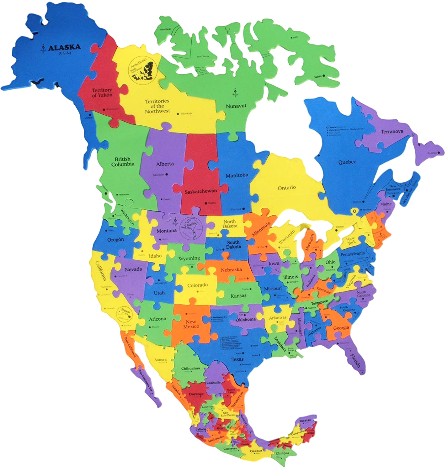 1428x1500 North America Map Puzzle