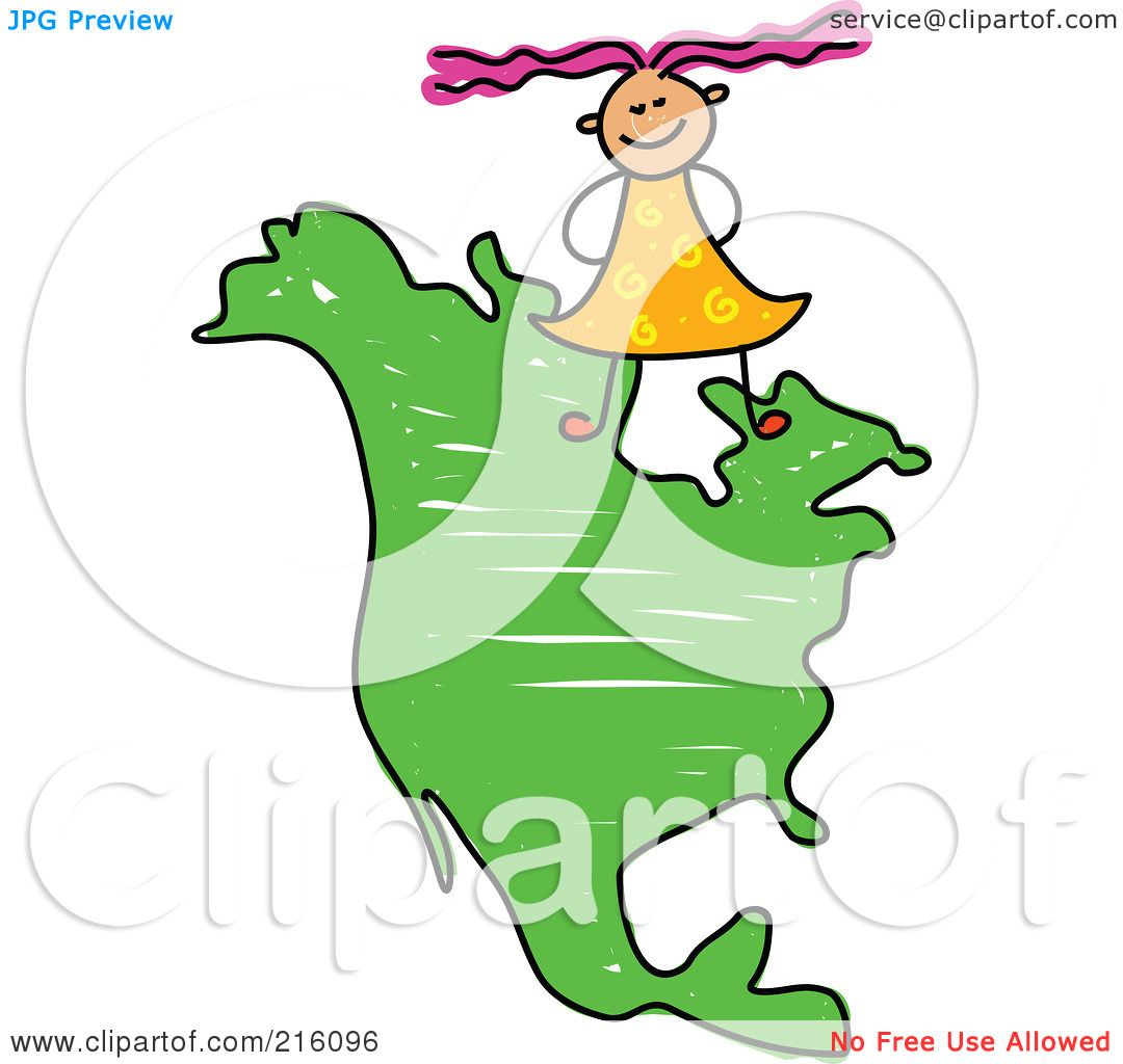 1080x1024 Royalty Free (Rf) Clipart Illustration Of A Childs Sketch Of Girl