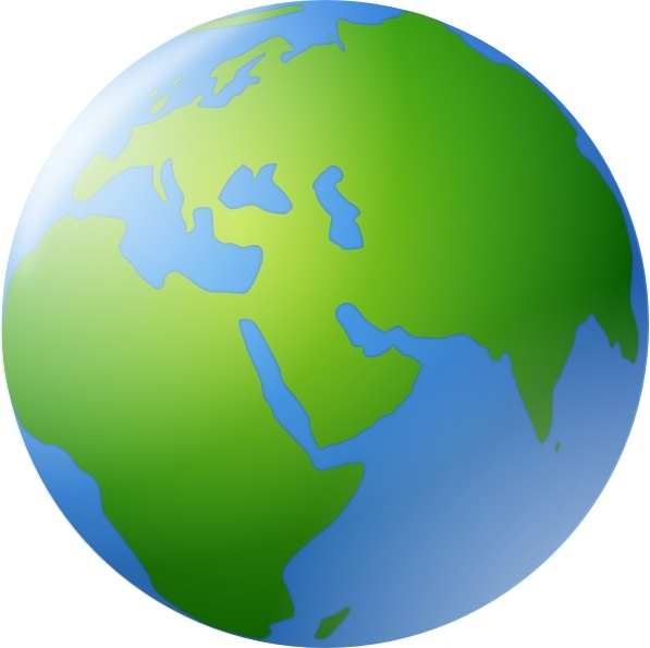 597x595 Free Clip Art World Globe With North America