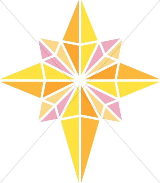 537x612 Manger Star Clipart