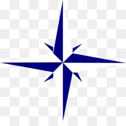 260x260 North Compass Rose Polaris Clip Art