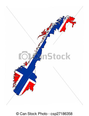 359x470 Norway Flag Map. Norway Country Flag Map Shape National Stock