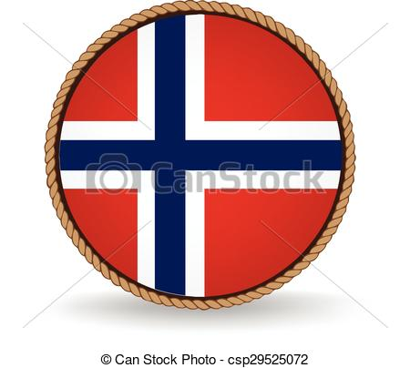 450x404 Norway Seal. Flag Seal Of Norway. Vectors Illustration