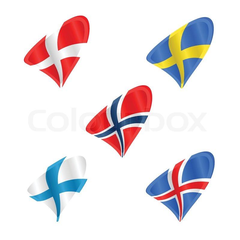 800x800 Official Flags Of The Scandinavian Countries, Denmark, Sweden