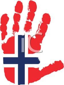 225x300 Flag Of Norway Handprint