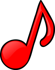 234x297 Red Music Note Clip Art