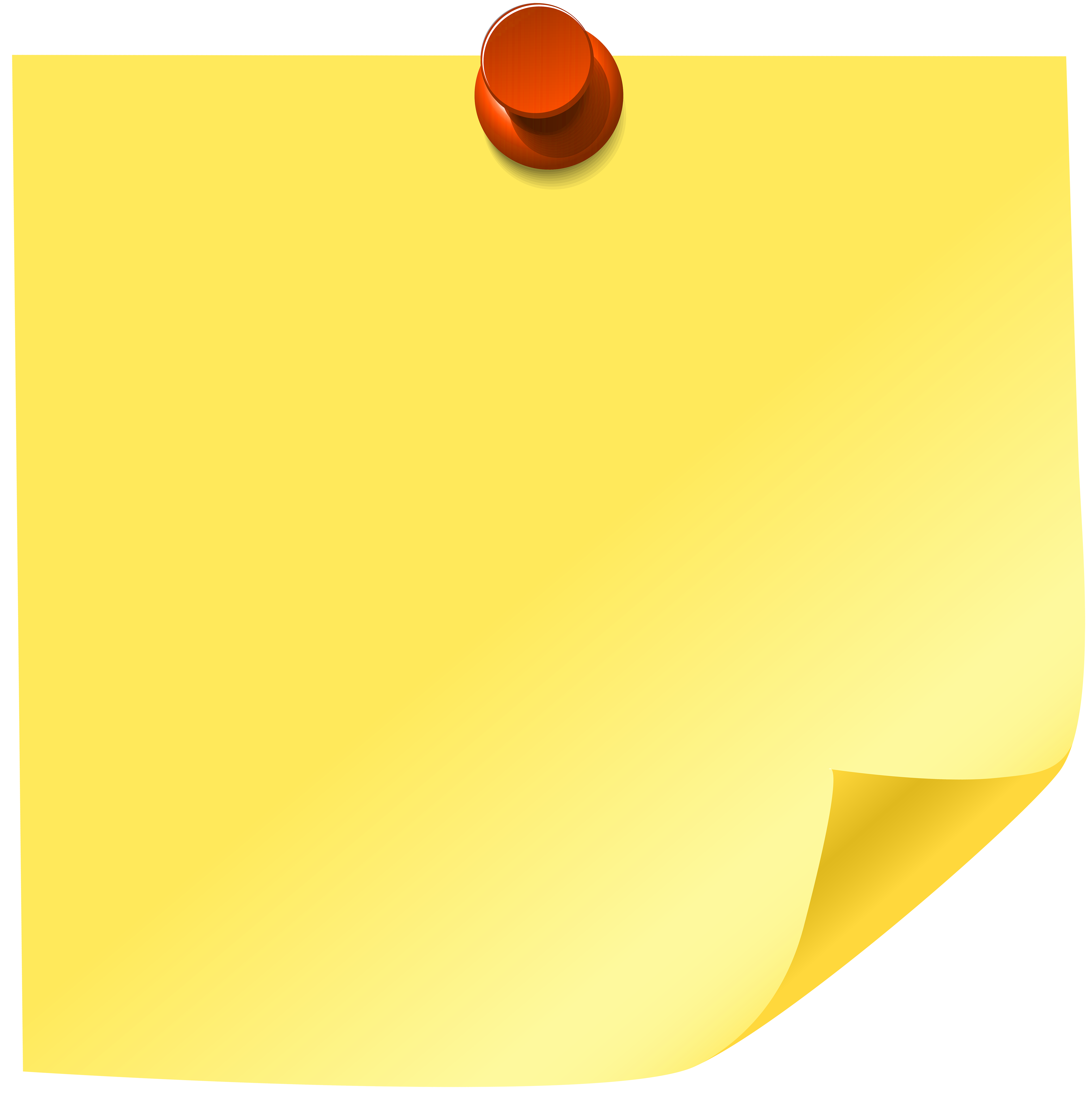 5973x6000 Yellow Sticky Note Png Clip Art