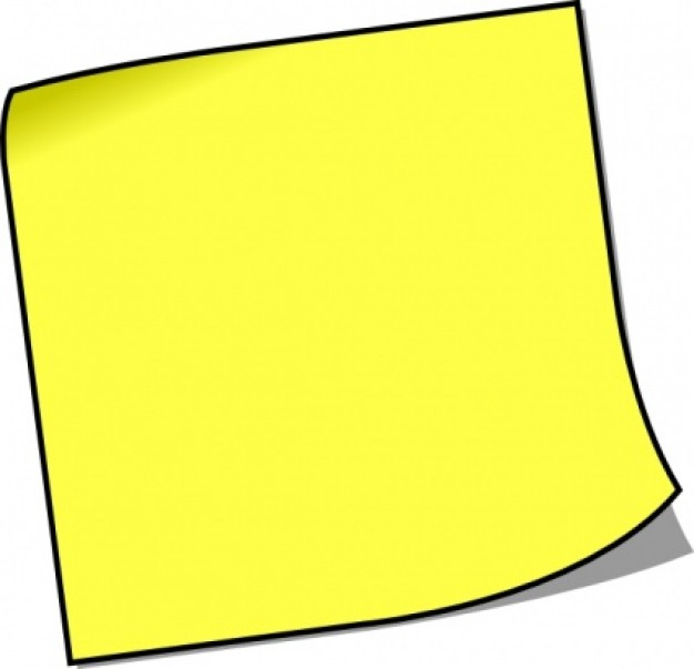 626x603 Post It Note Clip Art Post It Notes Clipart Clipart Panda Free