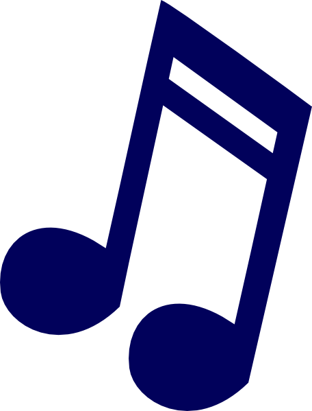 456x599 Dark Blue Music Note Clip Art